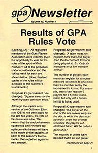 GPA Newsletter v15n1 1992 thumb