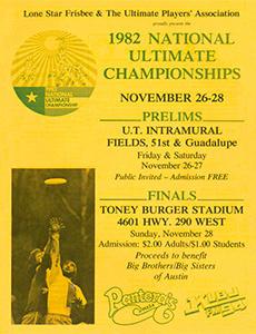 1982 National Ultimate Championships—Austin, TX—Nov 26–28, 1982