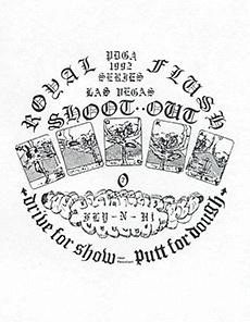 1992 Royal Flush Shoot-Out Artwork—Las Vegas, NV—Nov 1–3, 1992