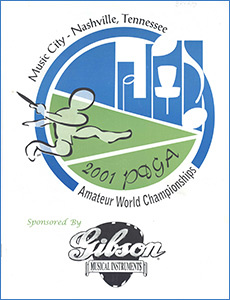 2001 PDGA Amateur WC Program—Nashville, TN—Jul 22–28, 2001