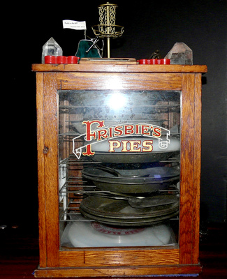 """A """"Holy Grail"""" complete wood/glass pie case from the Frisbie Pie Company"""