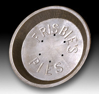 Frisbie's Pie Co.—Pie Tin—Large Sunken Letters, Top