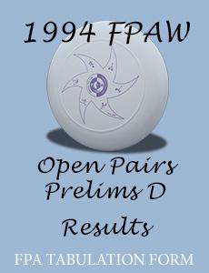 1994 FPAW Open Pairs Prelim D
