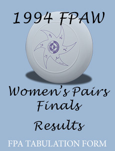 1994 FPAW Women's Pairs Finals