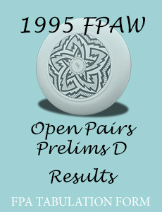 1995 FPAW Open Pairs Prelims D