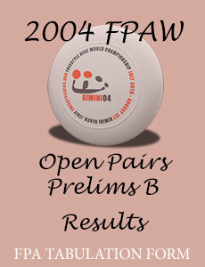 2004 FPAW Open Pairs Prelims B