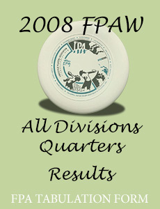 2008 FPAW All Divisions Quarters