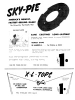 Hall Mfg—Sky Pie—Instructions, Front