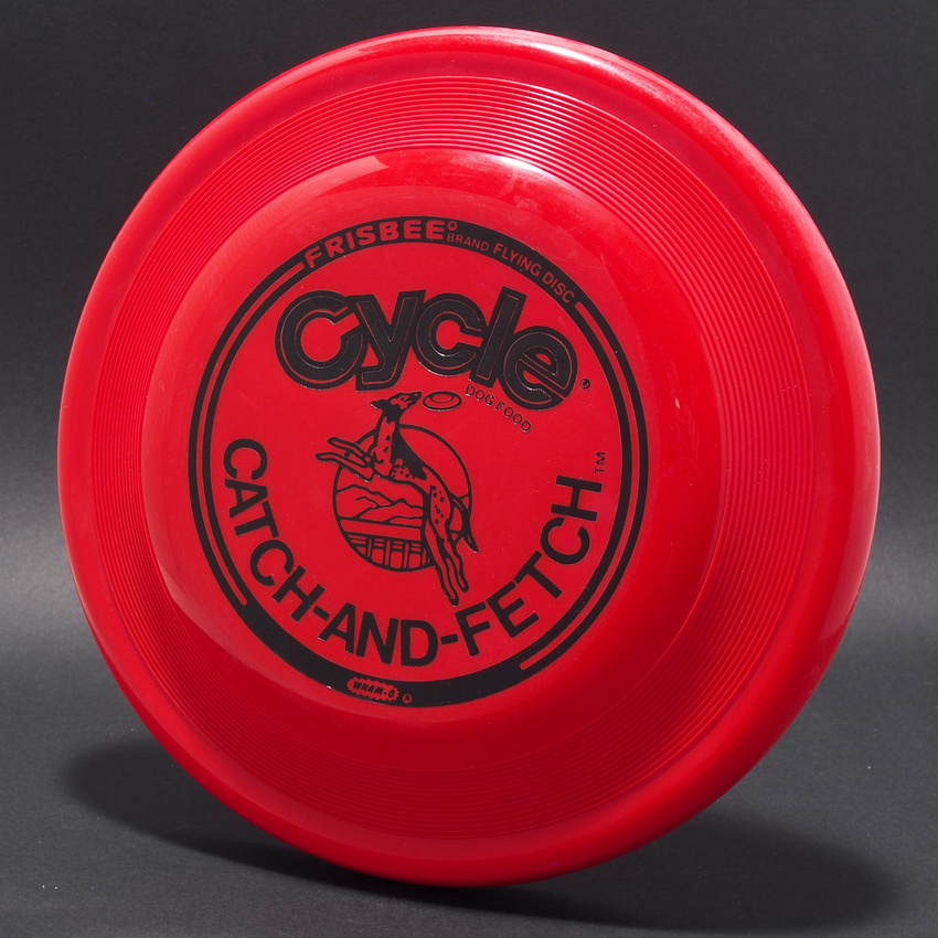Cycle Catch and Fetch—Wham-O FB8 Mold—Red—Black