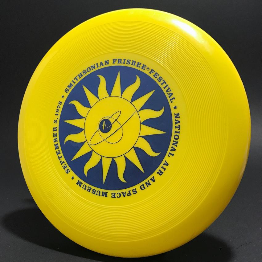 Smithsonian Frisbee Festival, 1978—Wham-O 40 Mold—Yellow—Blue