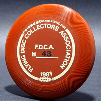 FDCA Member #43—Wham-O Mini—Brown—Gold, Black