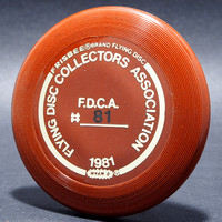 FDCA Member #81—Wham-O Mini—Brown—Gold, Black