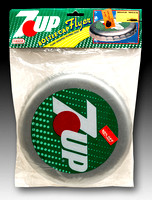 Nasta—Bottle Cap Flyer—7-Up—Silver—Green, White, Red—Package