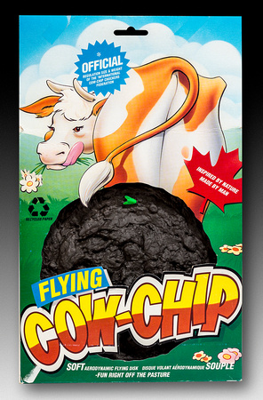 International Cow-Chip Chuckers Federation—Flying Cow-Chip—Brown—Package