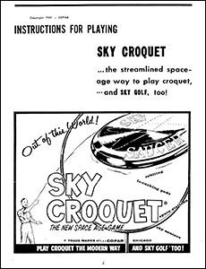 Sky Croquet-Golf Instructions