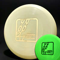 Canadian Open Disc Golf—Wham-O 100AD Mold—Glow—Gold