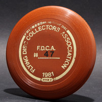 FDCA Member #47—Wham-O Mini—Brown—Gold, Black