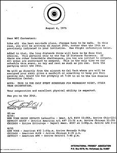 1975 WFC Correspondence