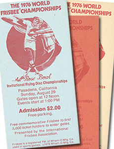 1976 WFC Admissions Tickets