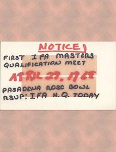 1968 IFA Masters Qualification_Rose Bowl Invitation & Postcards