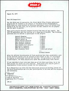 1977 WFC Player Invitation