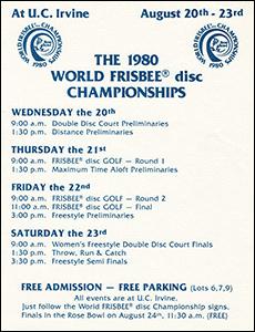 1980 WFC Schedule