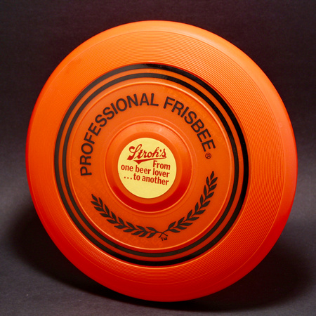 19th IFT (1976)—Fire Orange—Professional Frisbee—Stroh's Beer Lover Label