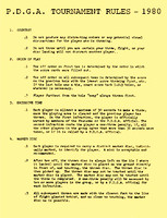 1980 P.D.G.A. Rules Single Page thumb