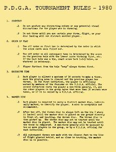 1980 P.D.G.A. Tournament Rules
