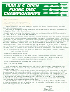 1988 US Open Player-Staff Package