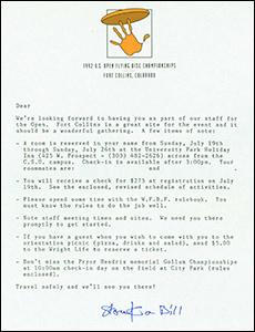 1992 US Open Staff Invite