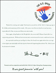 1994 US Open Post Event Package