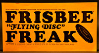 Bumper sticker—Frisbee Freak—Orange
