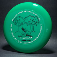 1986 FPA Worlds—Ft. Collins—Discraft Sky-Styler—Green—White, Black