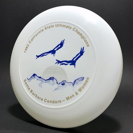 Condors—'82 State Champs—Discraft Ultra-Star—White—Gold, Blue