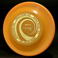 European Team Frisbee—Faulkner UK2 Mold—Apricot—Gold