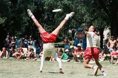 Bill Wright (handstand) and Joey Hudoklin