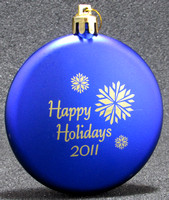 """Happy Holidays 2011"" Ornament—Spinners on the Green—Front"