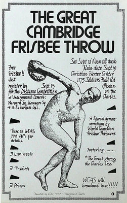 20-11 Johnson Great Cambridge Frisbee Throw poster