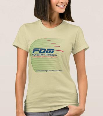Flying Disc Museum T-Shirt Front design