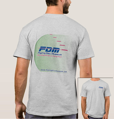 Flying Disc Museum T-Shirt Back design