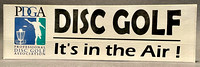 Bumper Sticker—Disc Golf It's In The Air!—Black, Blue, Green, White
