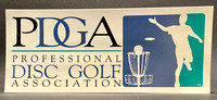 Bumper Sticker—PDGA—Black, Blue, Green, White