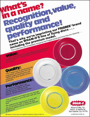 Premium Disc TMB Brochure—1980
